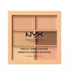 NYX PROFESSIONAL MAKEUP Палетка для коррекции Conceal, Correct, Contour Palette - Light 301