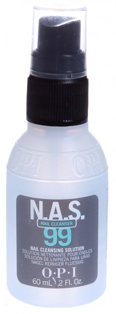 OPI Жидкость дезинфицирующая для ногтей / N.A.S.99 60 мл