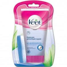 Veet крем для депиляции в душе для чувствительной кожи 150мл