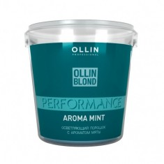 Ollin Professional BLOND PERFORMANCE Aroma Mint Осветляющий порошок с ароматом мяты 30г
