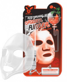 Маска тканевая с красным женьшенем ELIZAVECCA Red Ginseng Deep Power Ringer Mask Pack
