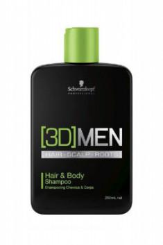 Шампунь для волос и тела Schwarzkopf Professional, [3D]MEN 250 мл