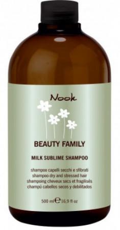 Шампунь восстанавливающий укрепляющий для сухих и поврежденных волос NOOK Beauty Family Milk Sublime Dry & Stressed Hair Ph5,5 500 мл