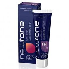 тонирующая маска для волос estel newtone 8/61 светлый русый фиолетово-пепельный 60 мл Estel Professional