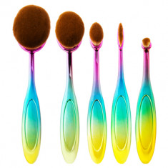 IRISK PROFESSIONAL Набор кистей-щеток макияжных, 01 радужная ручка / Universal Brush 5 предметов