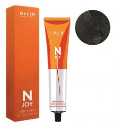 OLLIN PROFESSIONAL 4/0 крем-краска перманентная для волос, шатен / N-JOY 100 мл