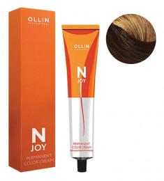 OLLIN PROFESSIONAL 6/74 крем-краска перманентная для волос, темно-русый коричнево-медный / N-JOY 100 мл