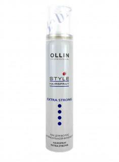 OLLIN PROFESSIONAL Лак экстрасильной фиксации для волос / STYLE 75 мл