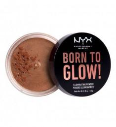NYX PROFESSIONAL MAKEUP Невесомая пудра-хайлайтер для лица и тела Born To Glow Illuminating Powder - Desert Night