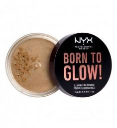 NYX PROFESSIONAL MAKEUP Невесомая пудра-хайлайтер для лица и тела Born To Glow Illuminating Powder - Ultra Light Beam