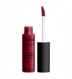 NYX PROFESSIONAL MAKEUP Матовая жидкая помада Soft Matte Metallic Lip Cream - Madrid 11