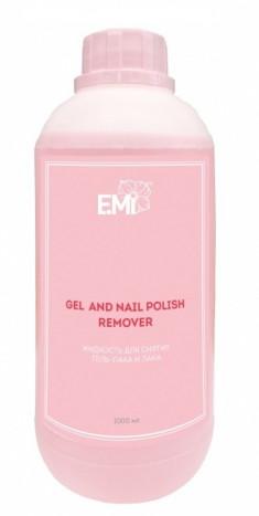 E.MI Жидкость для снятия гель-лака и лака / Gel and Nail Polish Remover 1000 мл