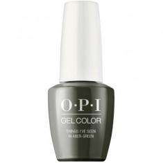 Гель лак для ногтей OPI GelColor Things I've seen in aber-green 15 мл
