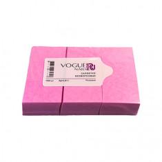 Vogue Nails, Безворсовые салфетки, розовые, 450 шт.