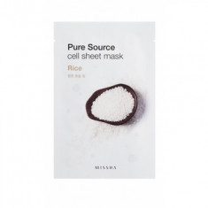 Маска тканевая Рис MISSHA Pure Source Cell Sheet Mask Rice 21г