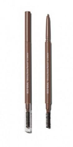 Карандаш для бровей Eco Soul Skinny Brow Pencil 01 Natural Brown The Saem