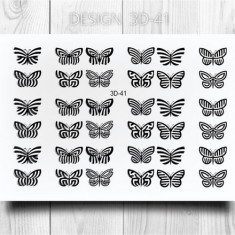 AnnaTkacheva,3D-слайдер№41,черный «Бабочки» Anna Tkacheva