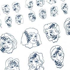 AnnaTkacheva,3Dслайдер№113,черный «Лица. Девушки» Anna Tkacheva