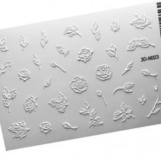 AnnaTkacheva,3D-стикер№023,белый «Цветы. Веточки» Anna Tkacheva