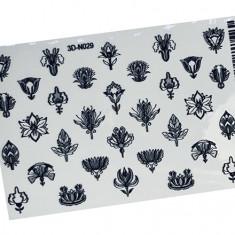 AnnaTkacheva,3D-стикер№029,черный «Цветы. Цветочки» Anna Tkacheva
