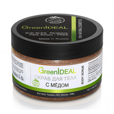 GreenIDEAL, Скраб для тела с медом, 300 г
